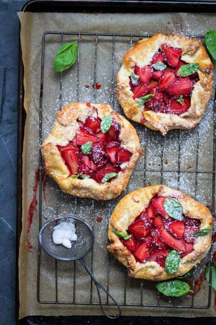 Strawberry And Basil Galette