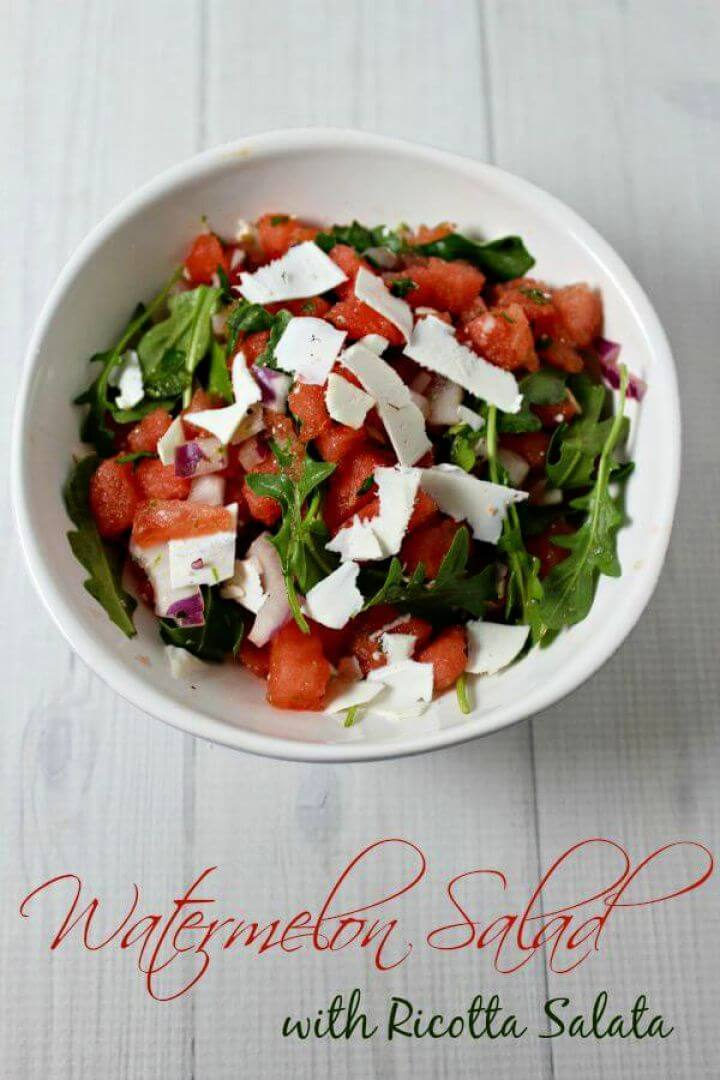 Watermelon Salad with Ricotta Salata
