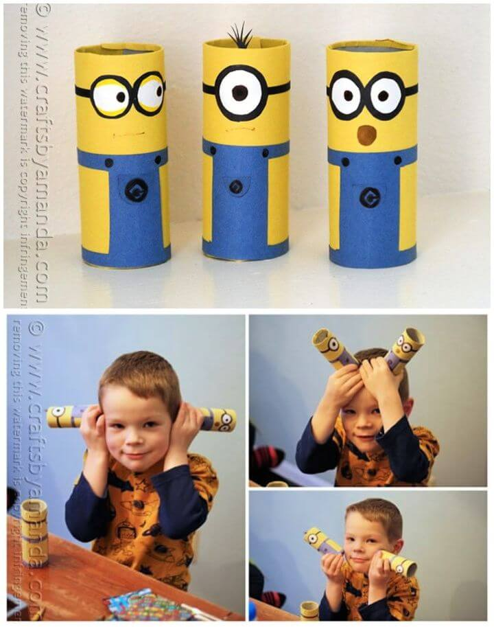 Adorable DIY Cardboard Tube Minions