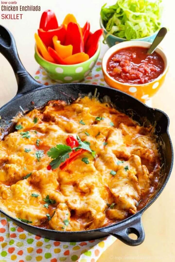 Best Chicken Enchilada Skillet