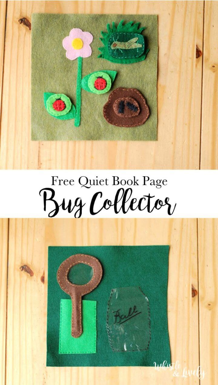 Best DIY Bug Collector Quiet Book Page