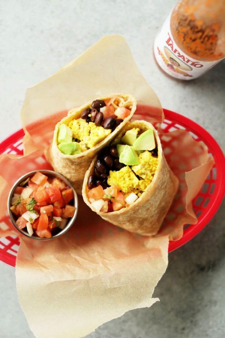 Best Protein Packed Vegan Breakfast Burrito