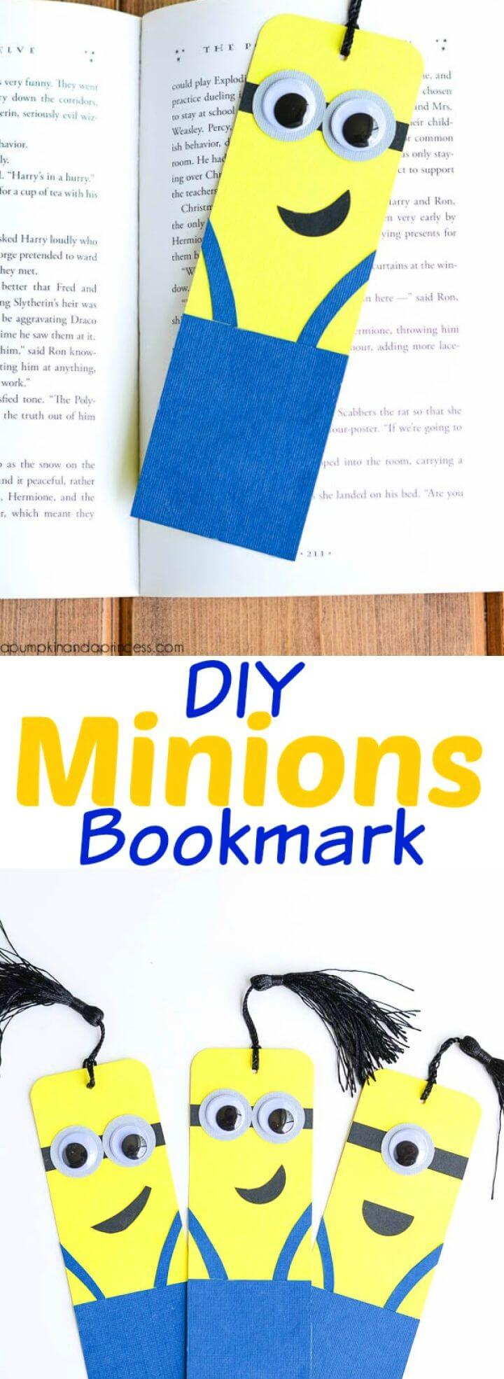 Build A DIY Minion Bookmarks