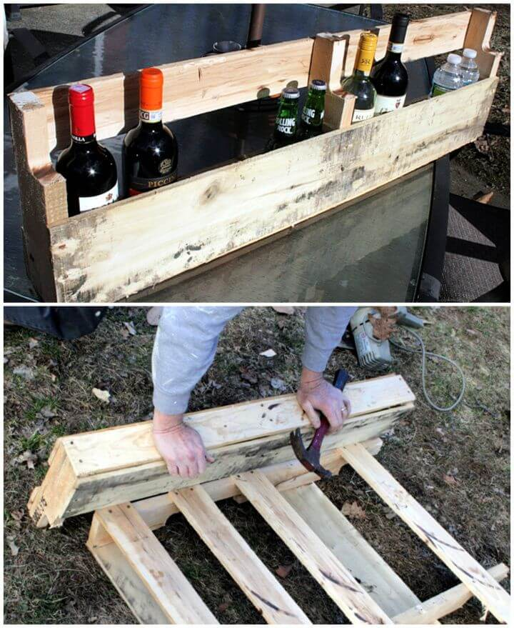 Build A DIY Pallet Wine Rack