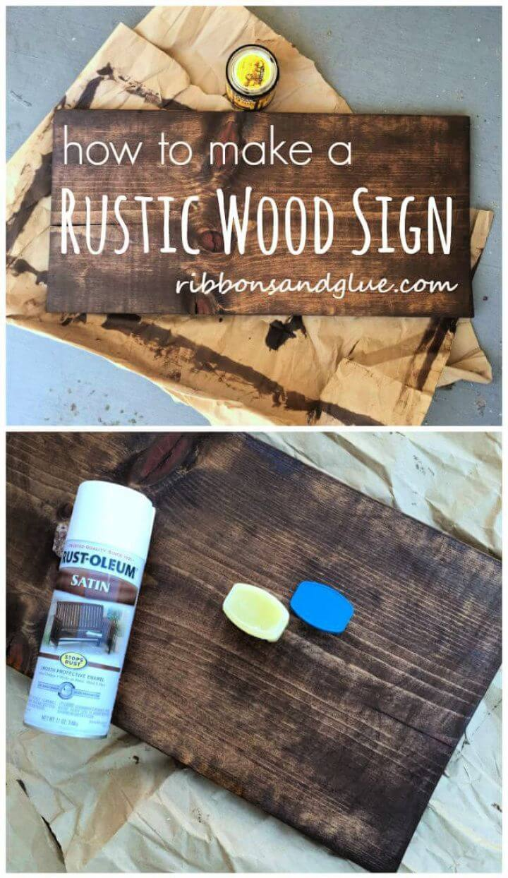 Build A DIY Rustic Wood Sign Project Tutorial