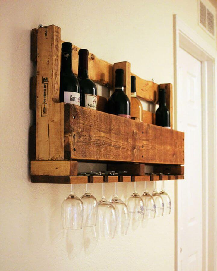 Build Your Own Wine Rack From A Pallet
