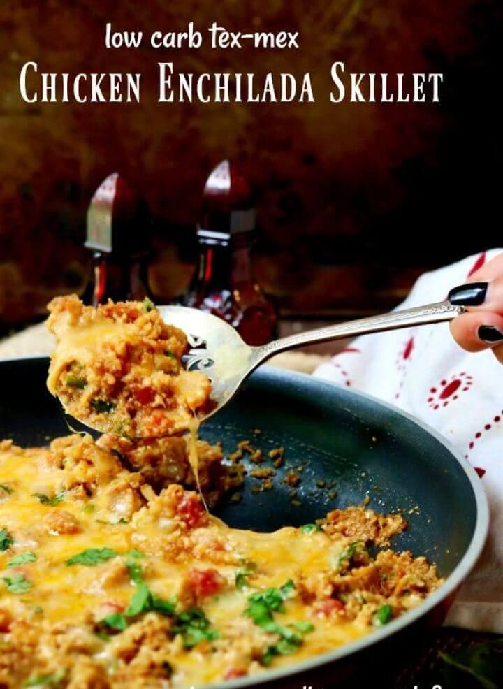 Chicken Enchilada Skillet Dinner Low Carb Tex Mex