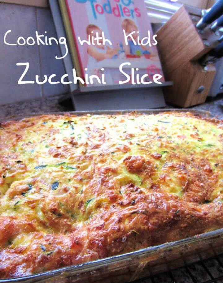 Cooking with Kids Zucchini Slice
