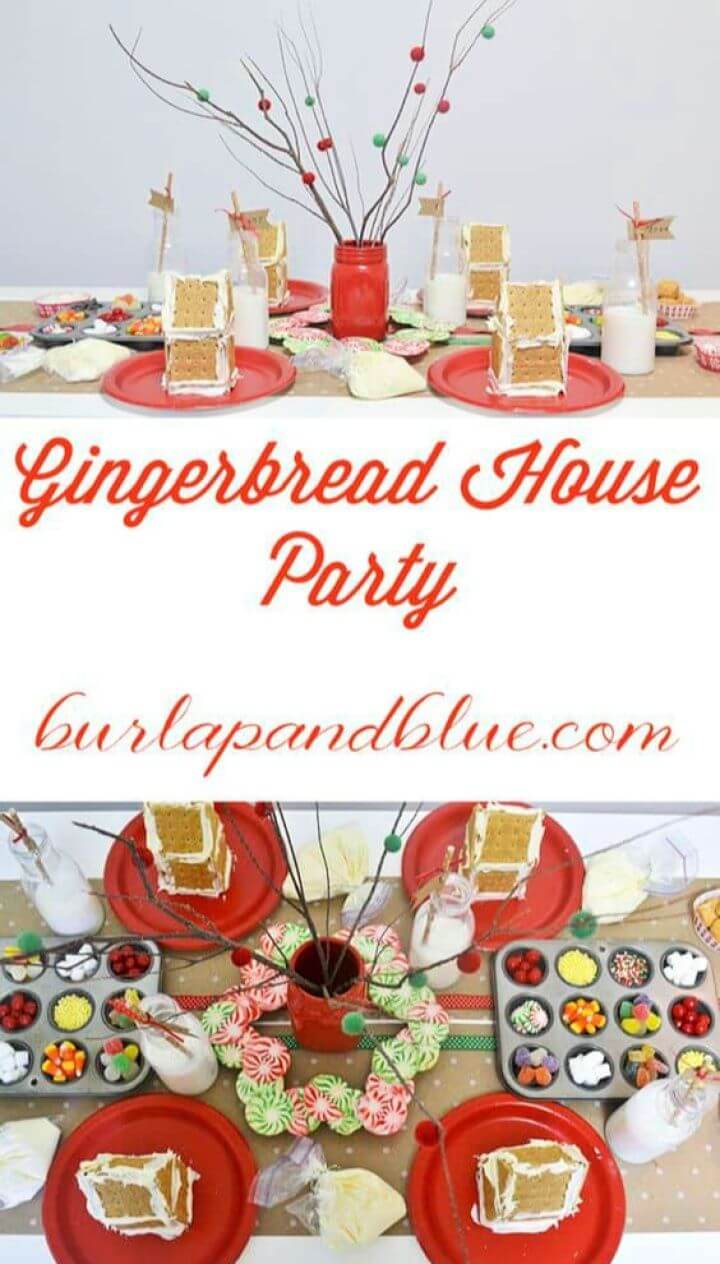 Cute DIY Gingerbread House Party Ideas