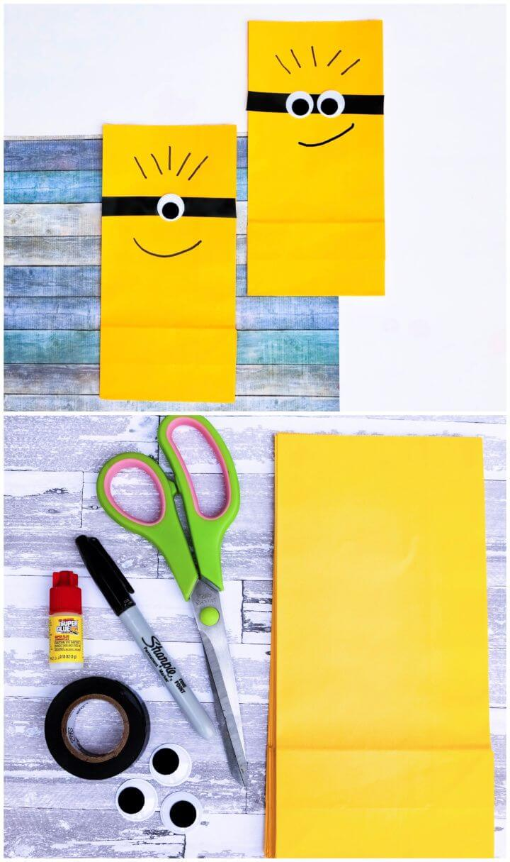 Cute and Easy DIY Minion Bags
