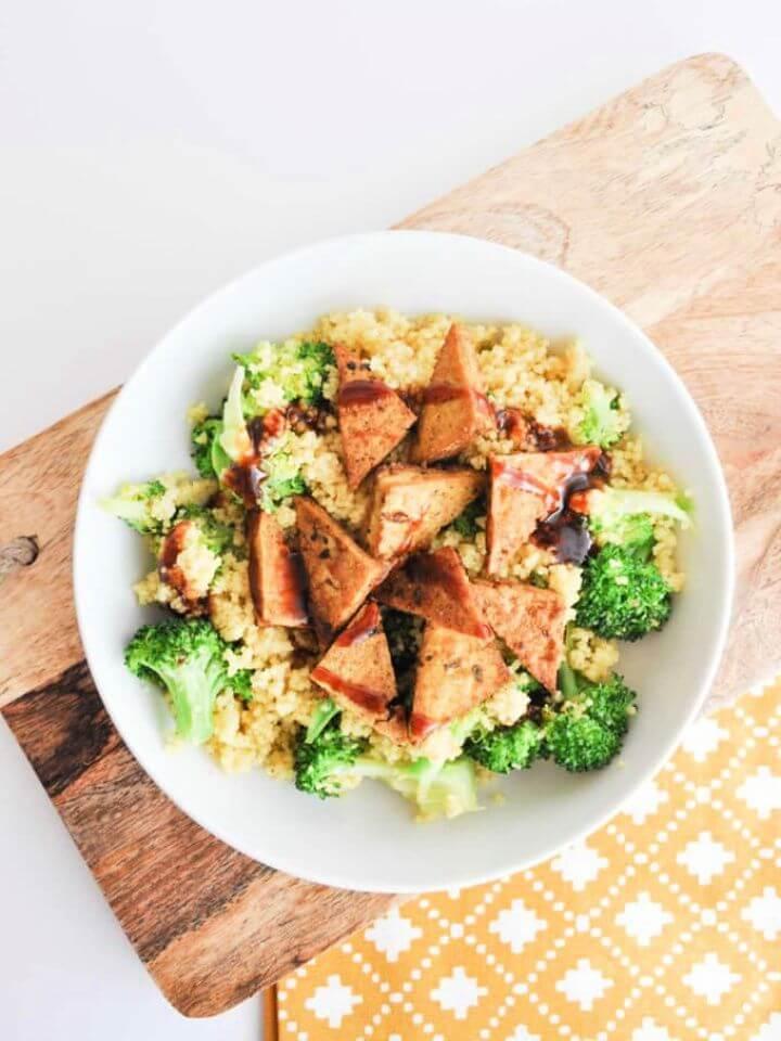 DIY BBQ Couscous Bowl With Tofu