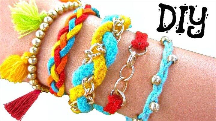 DIY Boho Summer Bracelets