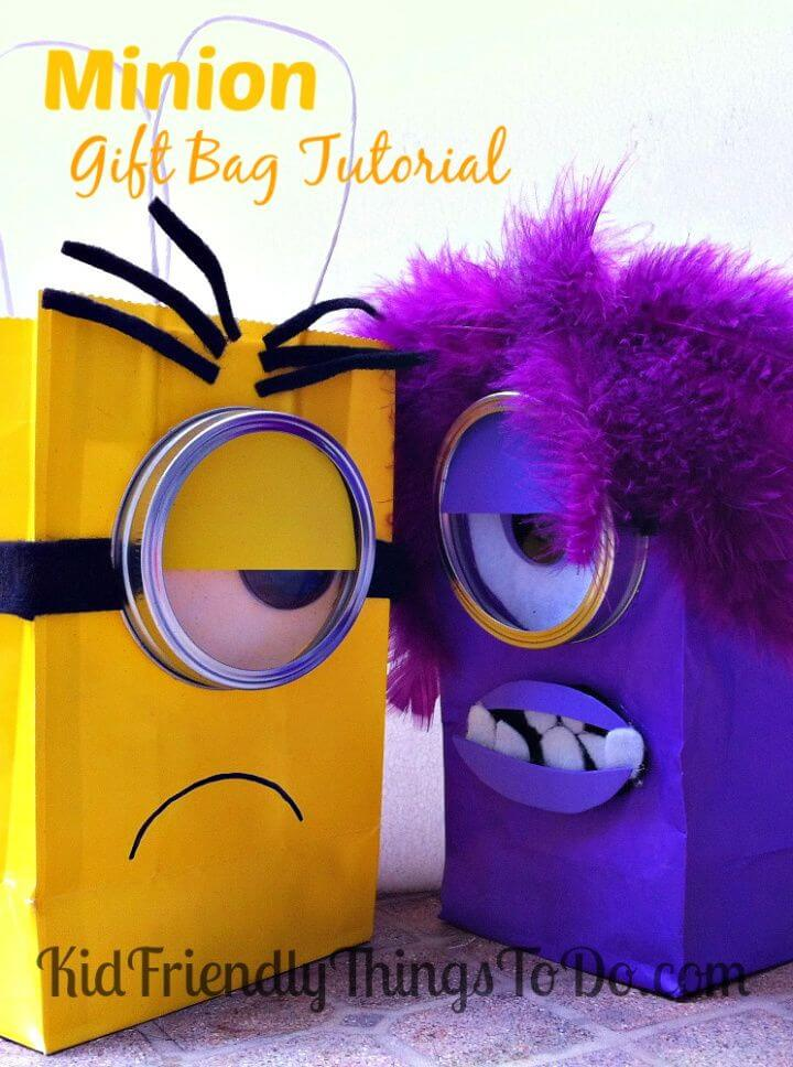 DIY Despicable Me Minion Gift Bag Idea