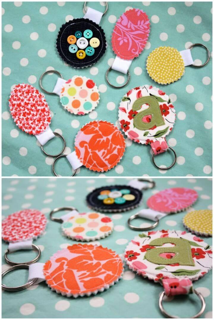 DIY Fabric Scrap Key Chain Tutorial