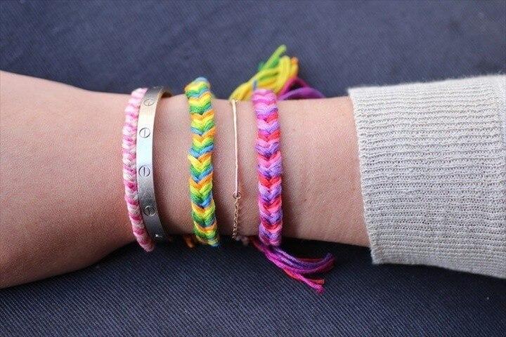 DIY Friendship Bracelets Fishtail Braid