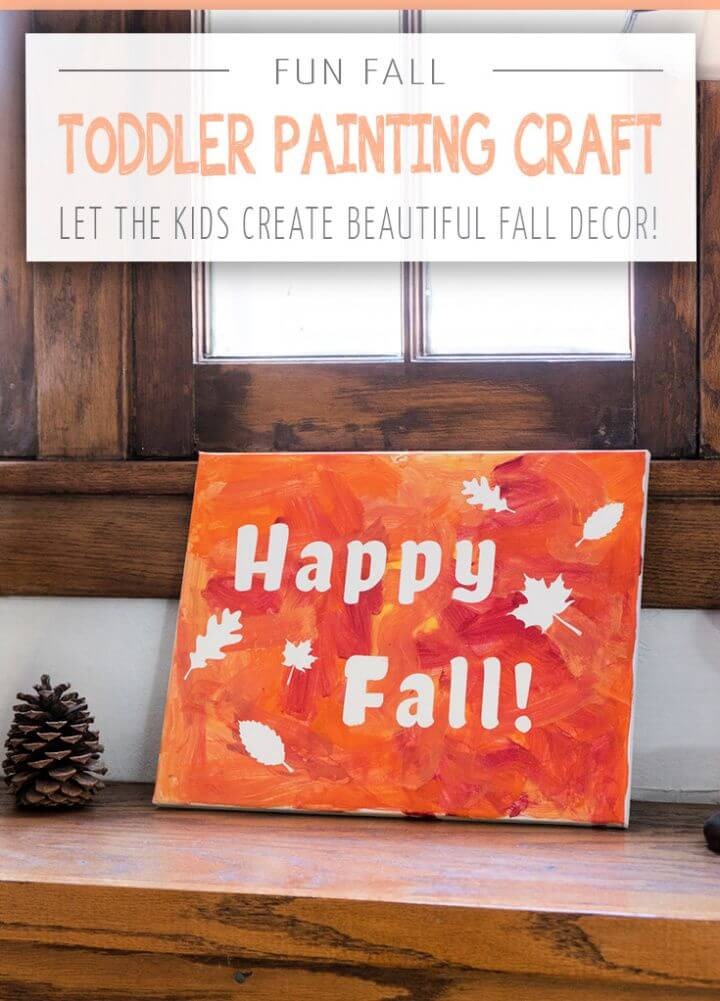 DIY Fun Fall Painting Craft For Toddlers