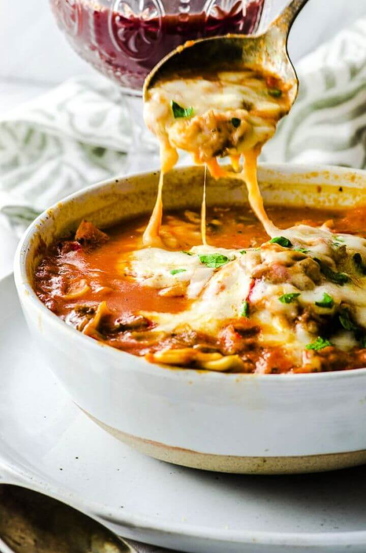 DIY High Protein Vegan Lasagna Soup