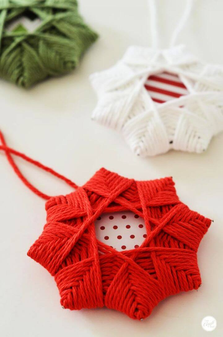 DIY Homemade Christmas Tree Star Ornaments