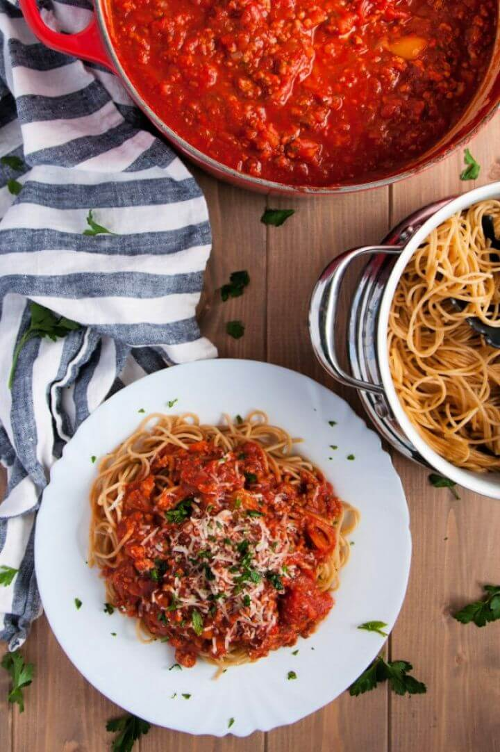 DIY Homemade Spaghetti Sauce with Turkey 2