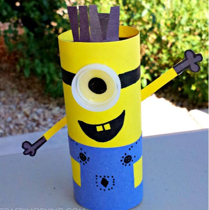 DIY Minion Toilet Paper Roll Craft For Kids