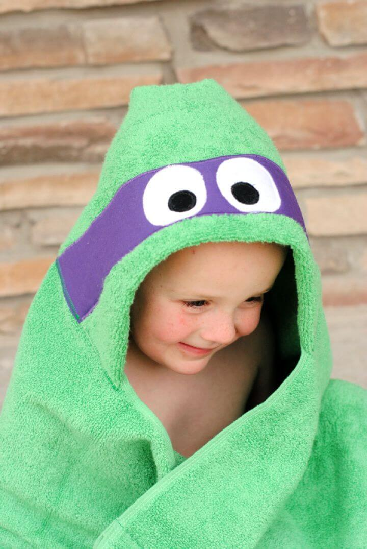 DIY Ninja Turtle Hooded Towel