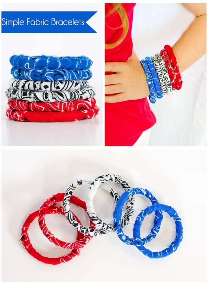DIY No Sew Simple Fabric Bracelet Tutorial