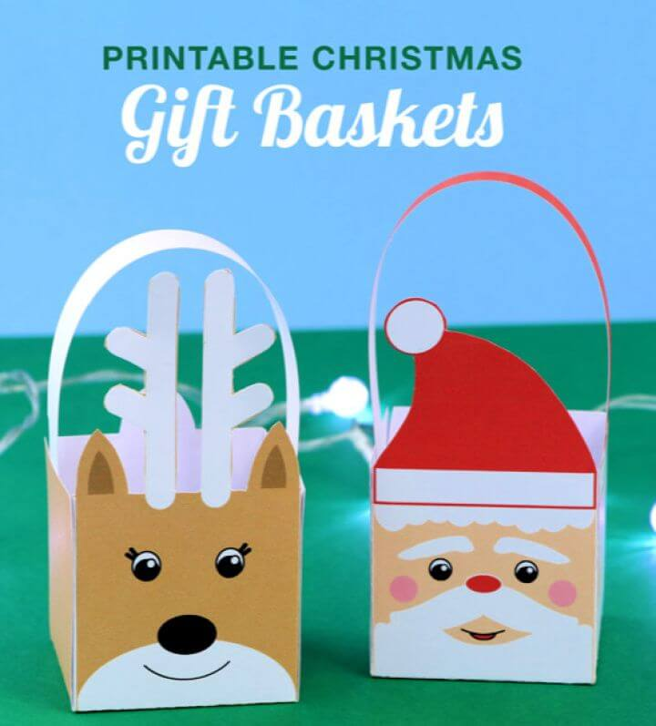 DIY Printable Christmas Baskets