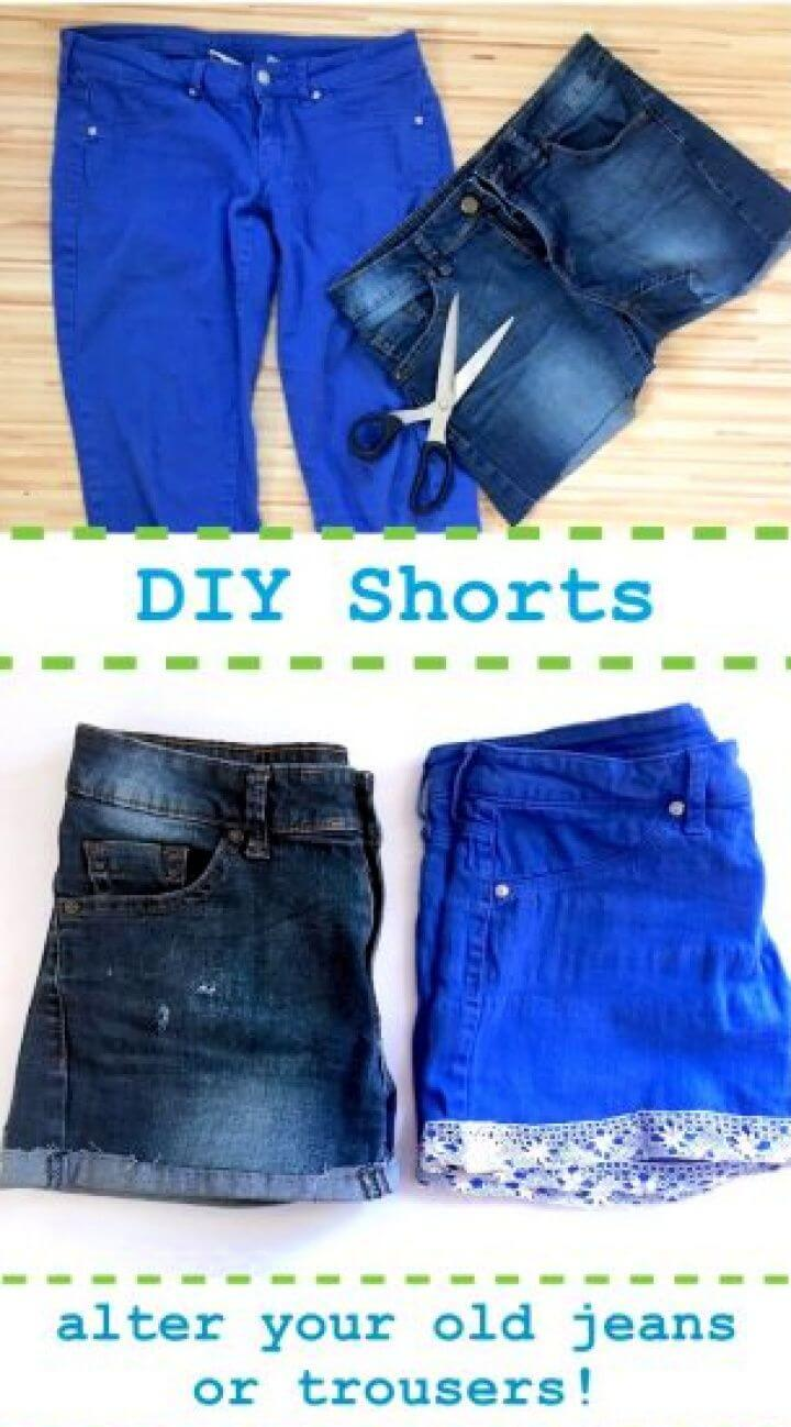 DIY Shorts Alter Your Old Jeans Or Trousers