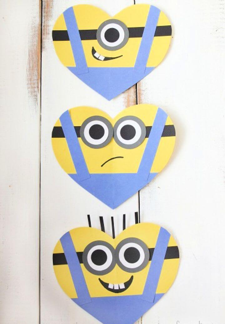 DIY Valentine's Day Heart Minion Craft