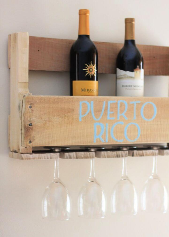 DIY Wood Pallet Wine Rack A Three Kings Celebration