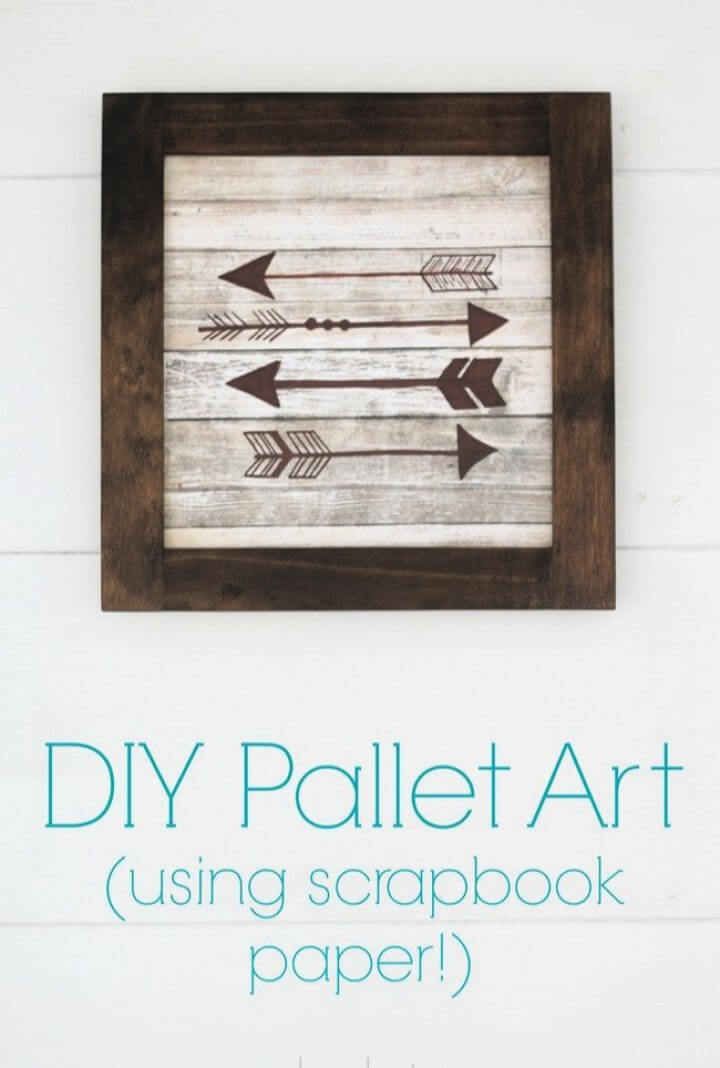 Easier Way To Make DIY Pallet Art