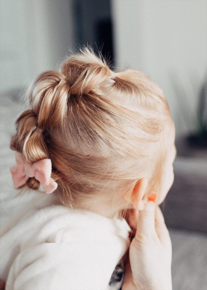 Easy Bubble Ponytail Tutorial for Toddler