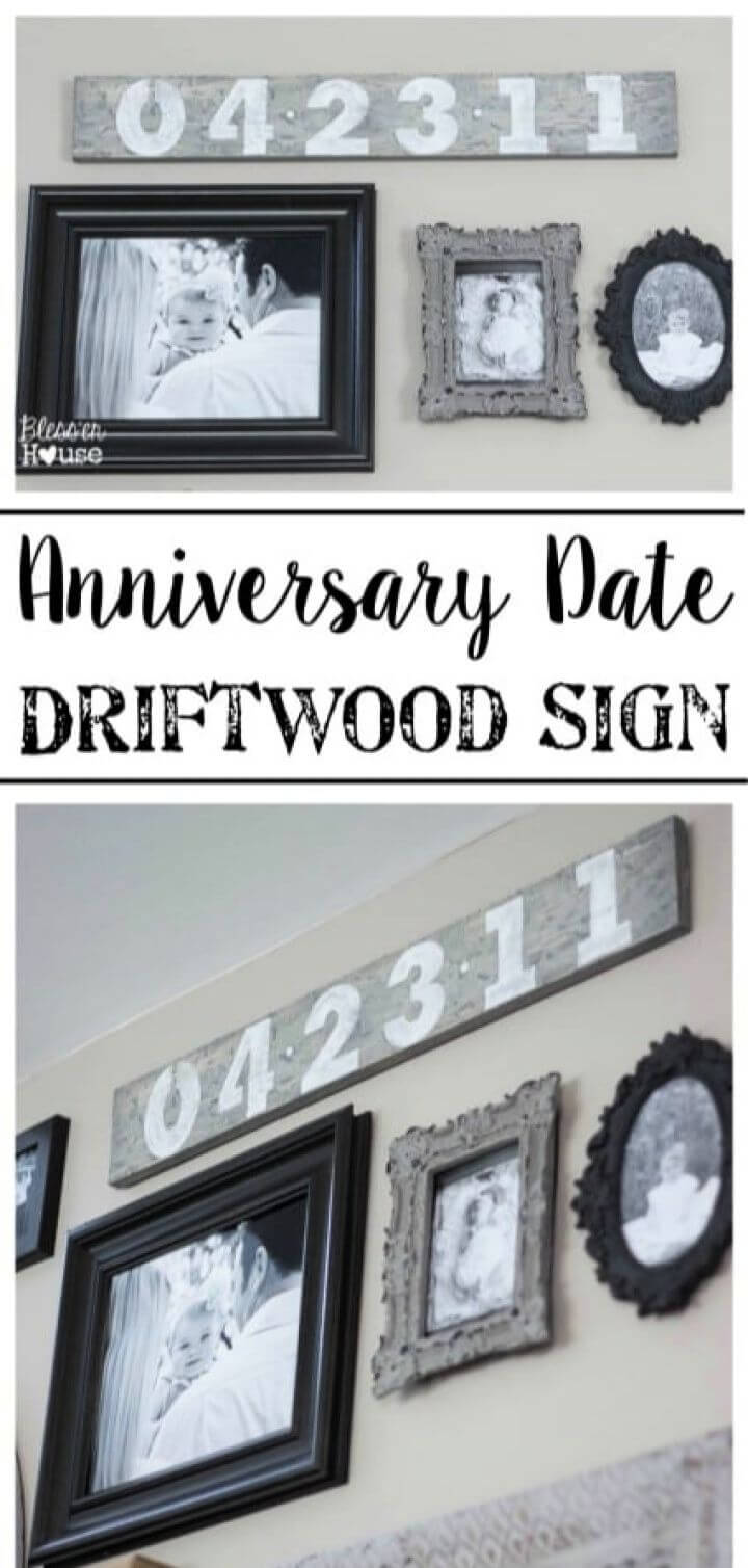 Easy DIY Anniversary Date Driftwood Sign