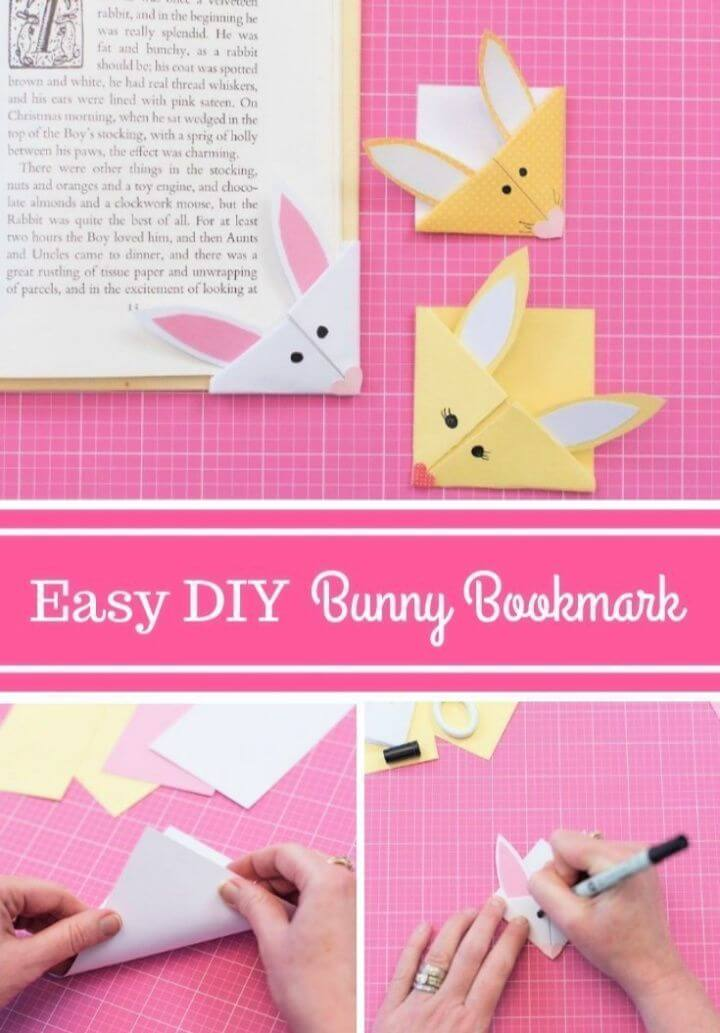 Easy DIY Bunny Bookmark For Kids
