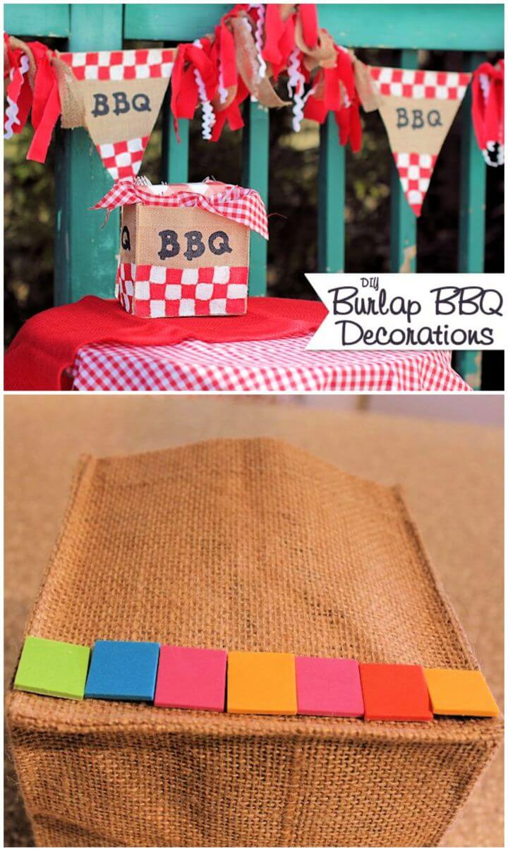 Easy DIY Burlap BBQ Decorations