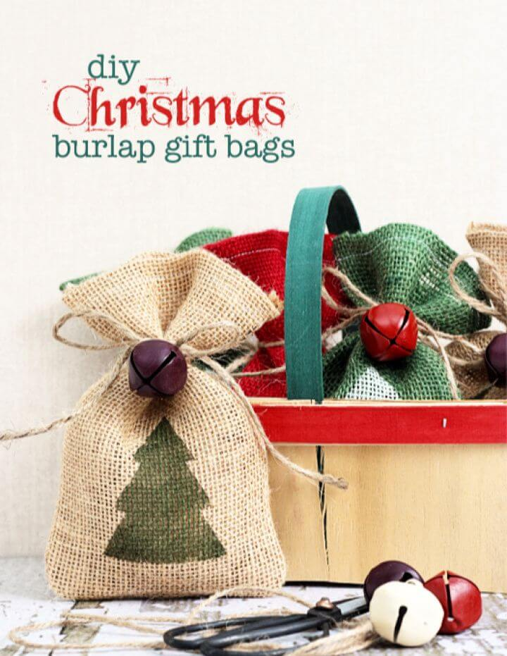 Easy DIY Burlap Gift Bags Tutorial