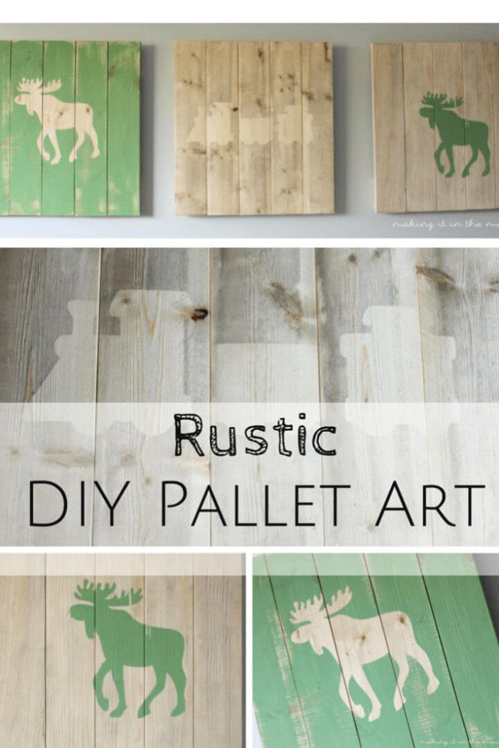 Easy DIY Challenge Rustic Scrap Wood Pallet Art