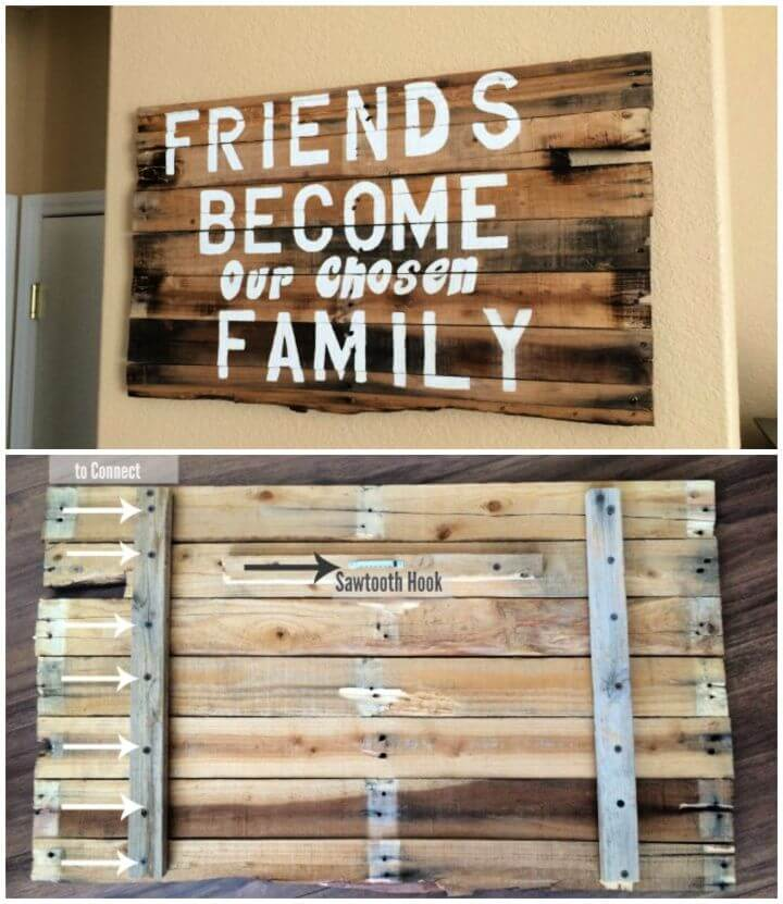 Easy DIY Friends Quote Wood Pallet Project
