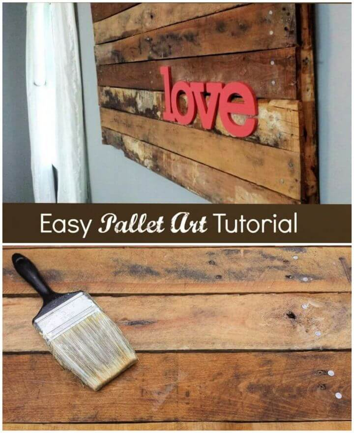 Easy DIY Pallet Art Tutorial