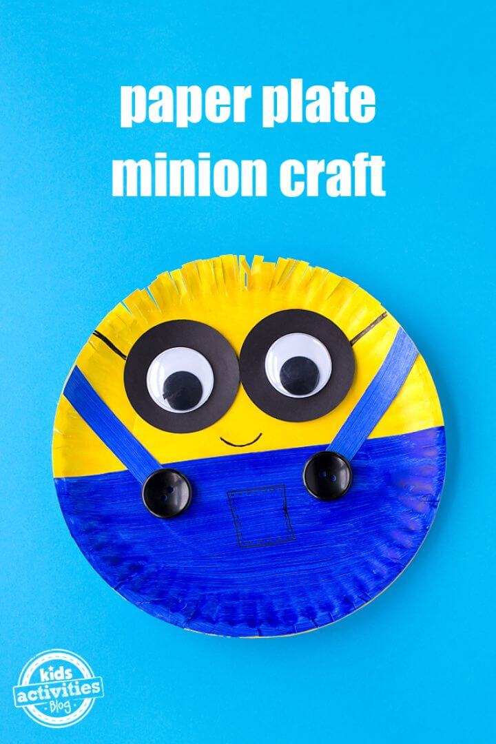 Easy DIY Paper Plate Minion Craft