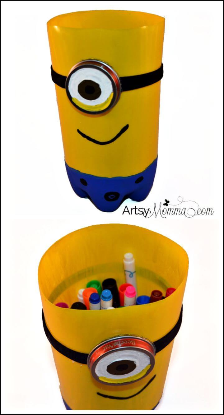 Easy DIY Plastic Bottle Minion Craft