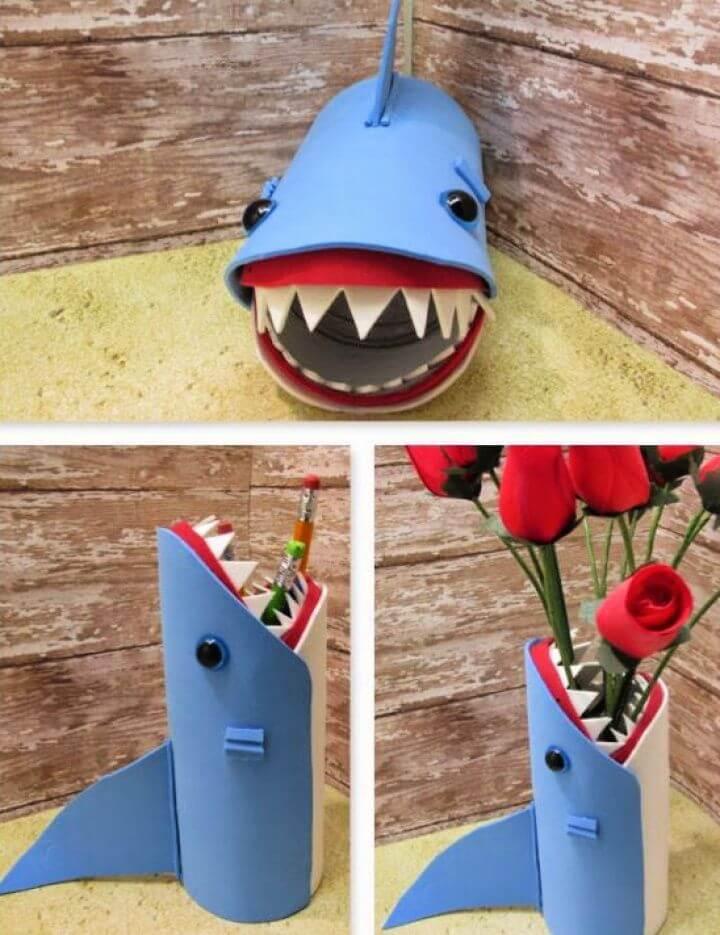 Easy DIY Shark Back to School Pencil Holder