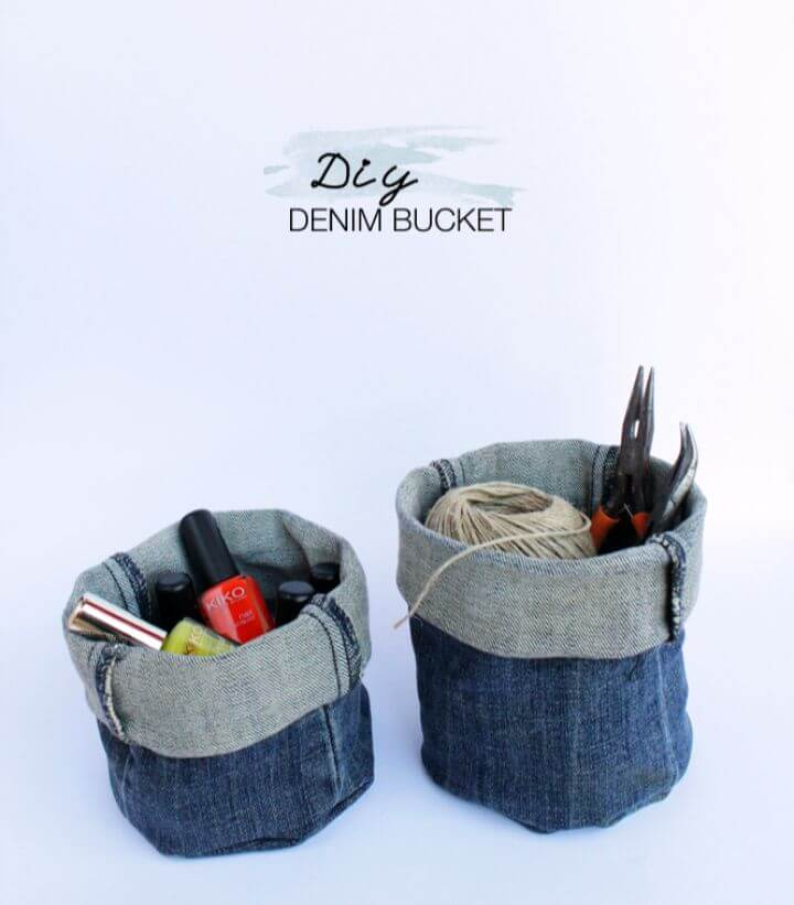 Easy DIY Upcycled Denim Bucket Tutorial