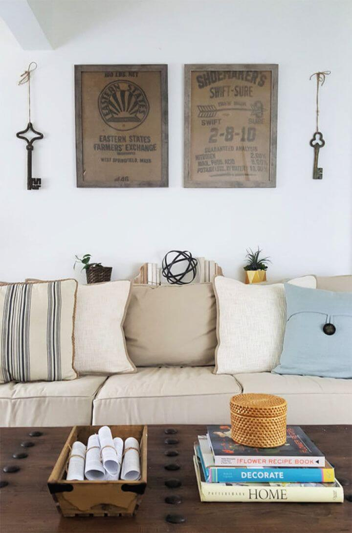 Easy DIY Wall Art Ideas – Framed Burlap