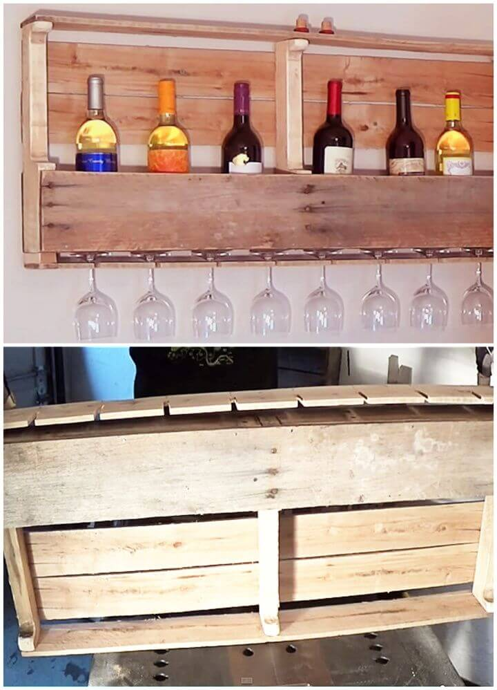 Easy DIY Wood Pallet Wine Rack