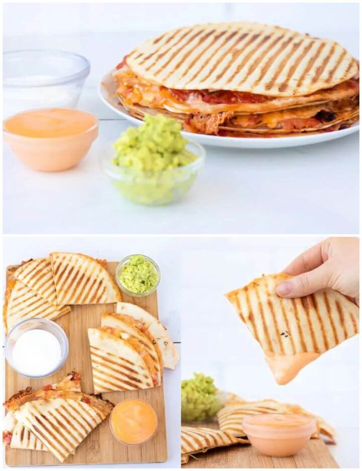 Easy Weeknight Leftover Chicken Quesadillas