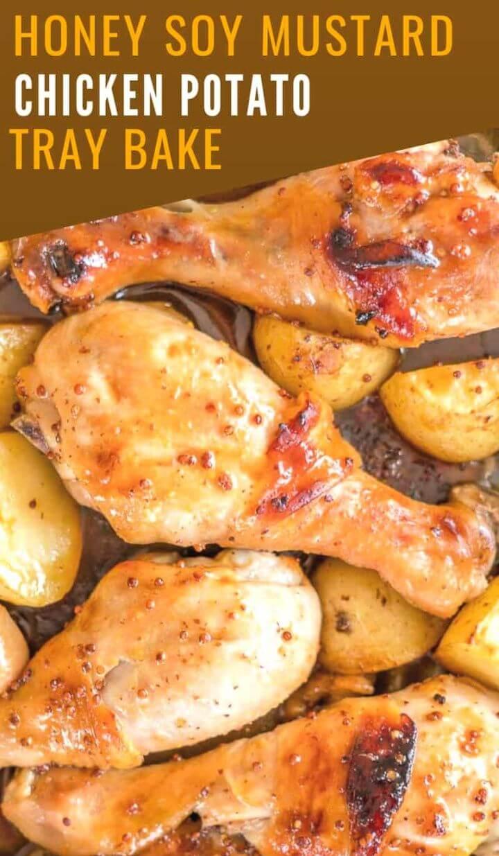Honey Soy Mustard Chicken Tray Bake