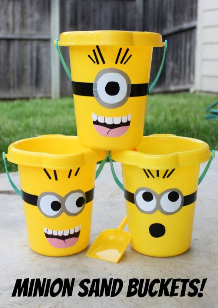 How To Build A DIY Minions Sand Buckets