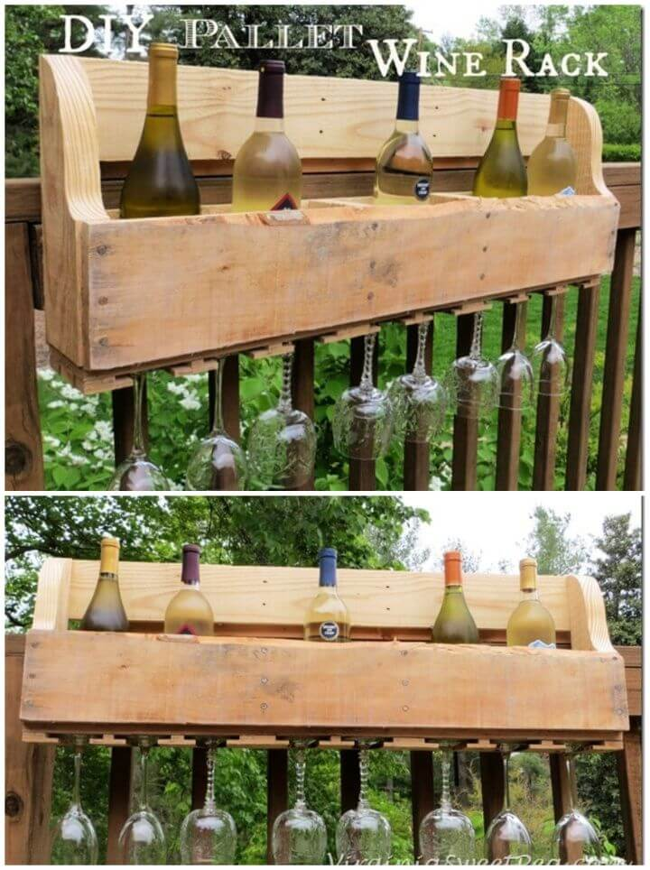How To Build A DIY Pallet Wine Rack