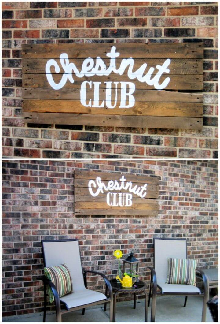 How To Build Your Own DIY Pallet Sign
